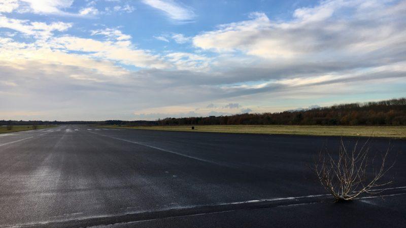 Over de landingsbaan